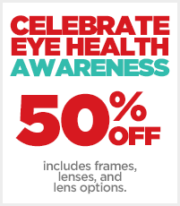 JCPenney Optical Eye Health Awareness Month 50% OFF Eyeglasses